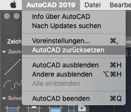 AutoCAD MAC Zurücksetzen