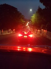 Nighttime traffic in Kumasi