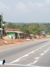 A small town along the route