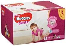 Scutece-chilotel Huggies Box girl 4, 9-14kg, 72 buc