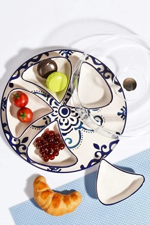 Kosova - Set pentru mic-dejun Kosova, 430KSV1330, ceramica 100%, 12 x 12 x 4 cm - Alb