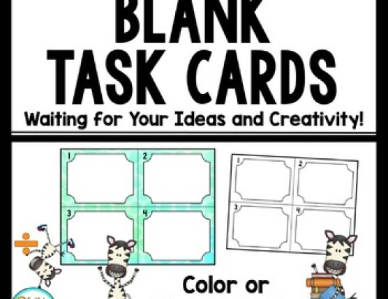 Blank Task Cards - Make Your Own or allow students to write their own questions!