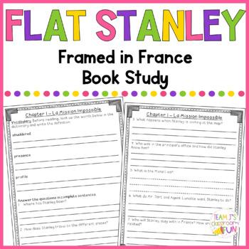Book Study for Flat Stanley - Framed In France