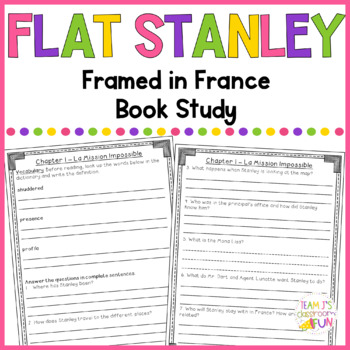 Book Study for Flat Stanley - Framed In France