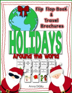 Holidays Around the World Flip Flap Book and Travel Brochures