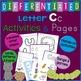 Letter C Alphabet Unit Plan
