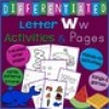 Letter W Alphabet Unit Plan