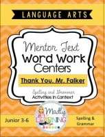 Language Arts - Mentor Text Word Work Centers Shortcut Image Thank You Mr Falker