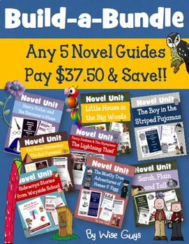 We have created custom novel unit bundles to help with guided reading novel study units in your elementary classroom.