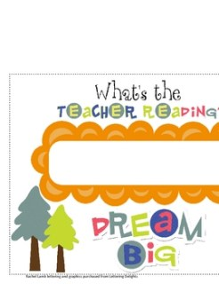 What's the Teacher Reading? sign for classroom