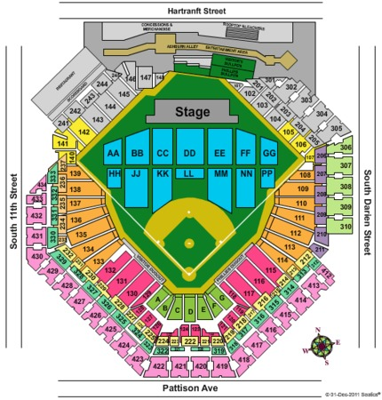 Citizens bank park concert seating chart www napma net
