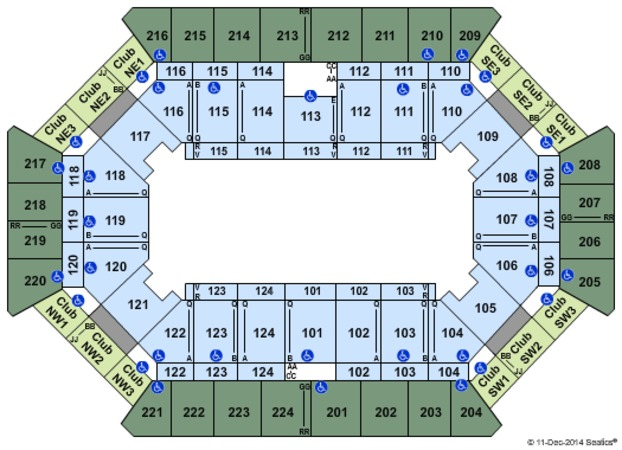 Tucker Civic Center Seating Chart