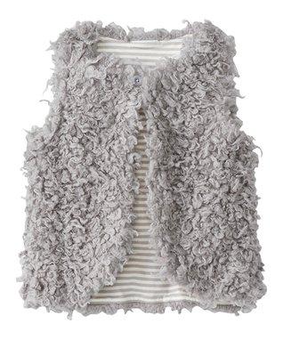 Mast Gray Warm Fuzzies Vest - Girls