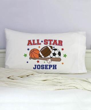 All Star Sports Personalized Organic Pillowcase