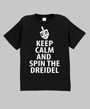 Black 'Spin the Dreidel' Tee - Infant, Toddler & Boys