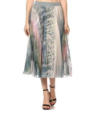 Blue Blur Pleated Skirt - Women