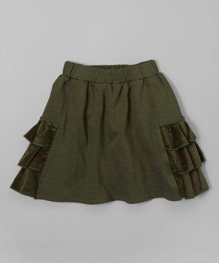 Hunter Velveteen Ruffle Skirt - Toddler & Girls