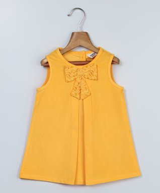 Yellow Bow Swing Dress - Infant