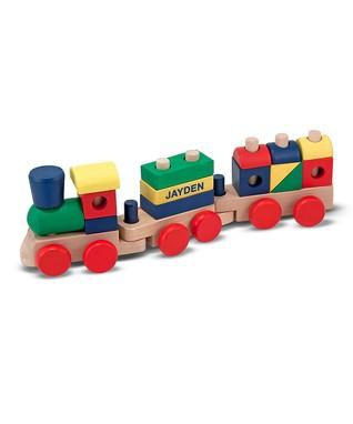 Melissa & Doug Personalized Stacking Blocks Train Set