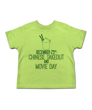 Key Lime 'Chinese Takeout and Movie Day' Tee - Toddler & Kids