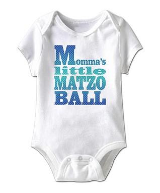 White 'Momma's Little Matzo Ball' Bodysuit - Infant