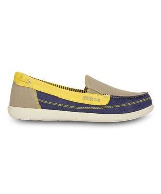 Khaki & Canary Walu Loafer - Women