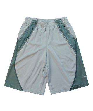 Gray Color Block Mesh Shorts - Boys