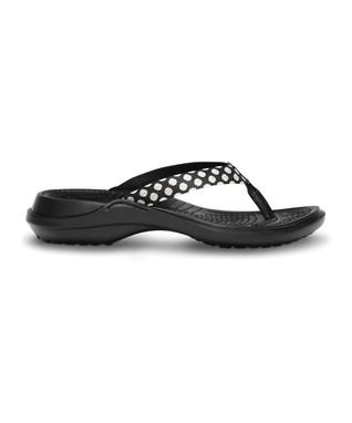 Oyster & Black Polka Dot Capri Flip-Flop - Women