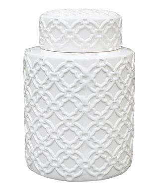White Ornamented Jar