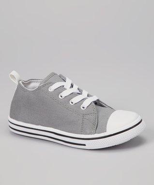 Gray & White Color Block Sneaker