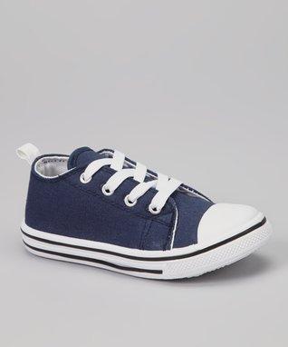 Navy & White Color Block Sneaker