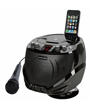 Black Portable Karaoke/CD Player