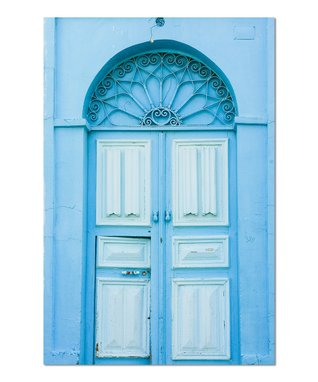 Light Blue Door Gallery-Wrapped Canvas
