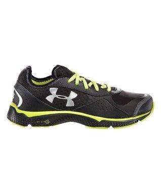 Black Grade School FTHR Shield Running Shoe - Boys