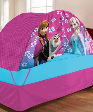 Frozen Twin Bed Tent & Pushlight Set