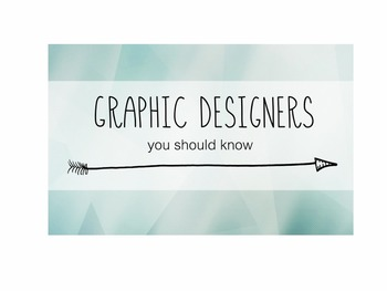 6 Graphic Designers You Should Know