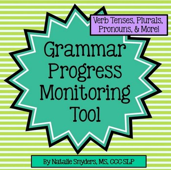 Grammar Progress Monitoring Tool for Speech Language Therapy