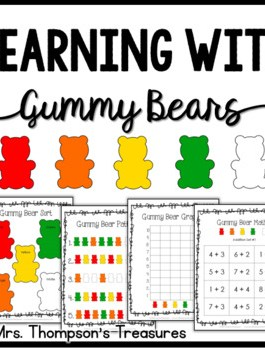 Gummy Bears Fun Activity Pack {Graphing, Sorting, Patterns