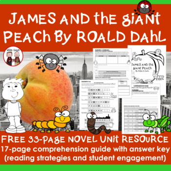Free Downloads: James and the Giant Peach Novel Unit