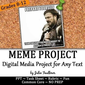 Meme Project for Modern, Text-Based Fun with Literature, M