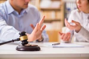 Civil litigation lawyer talking to a client