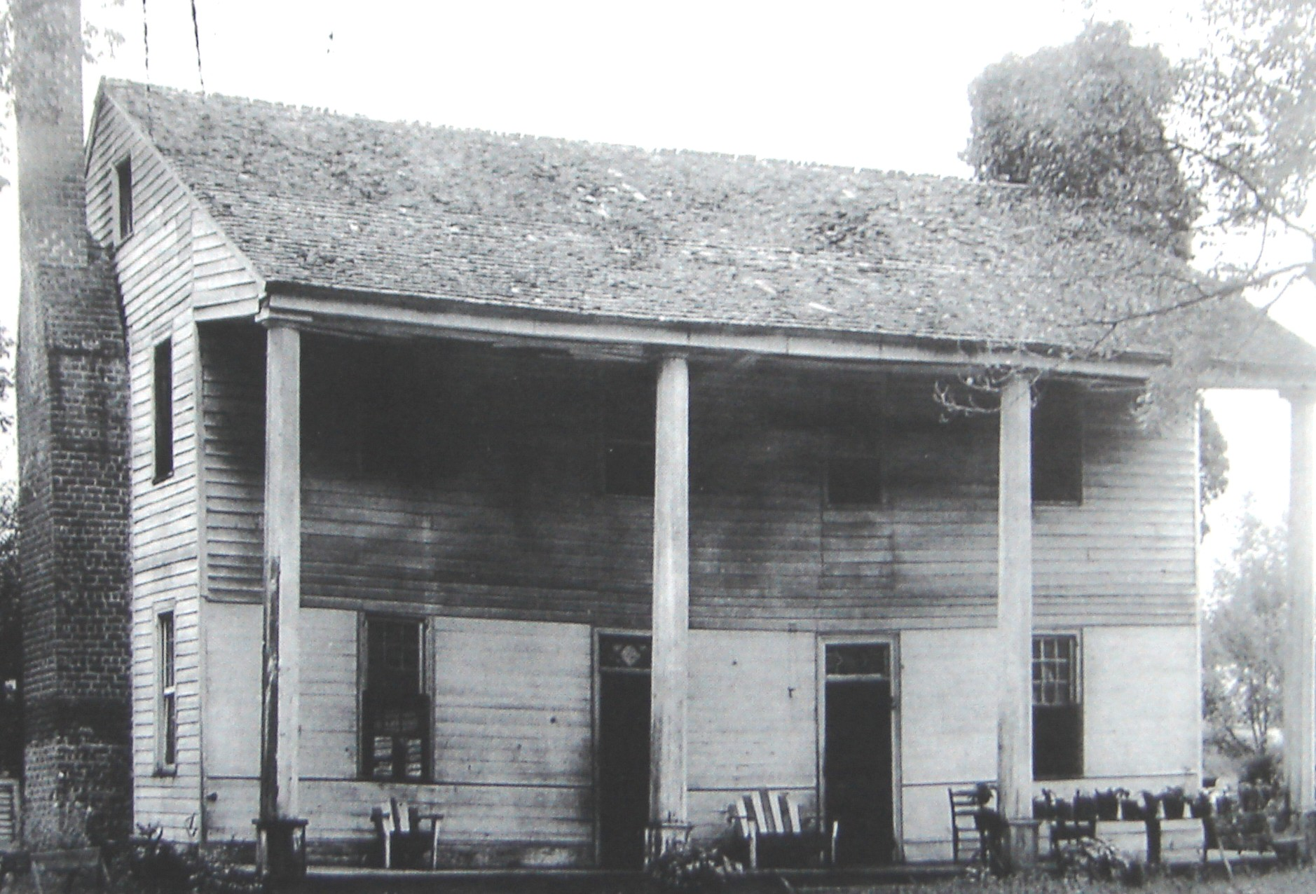 """Pleasant Gardens"" was built in the late 1780s by Hunting John McDowell's son Joseph near the site where Brown's Purchase was negotiated with the Cherokee. The house still stands today."