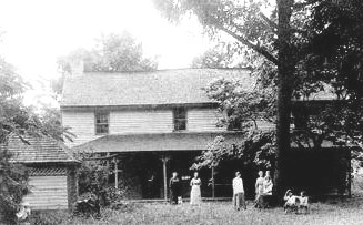 The Burgin House was a center of social life in the community for many years. (Photo courtesy Peggy Silvers)