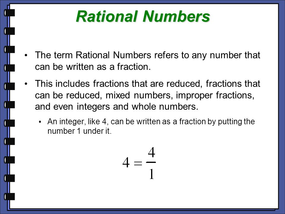 Rational Number Decimals Fraction
