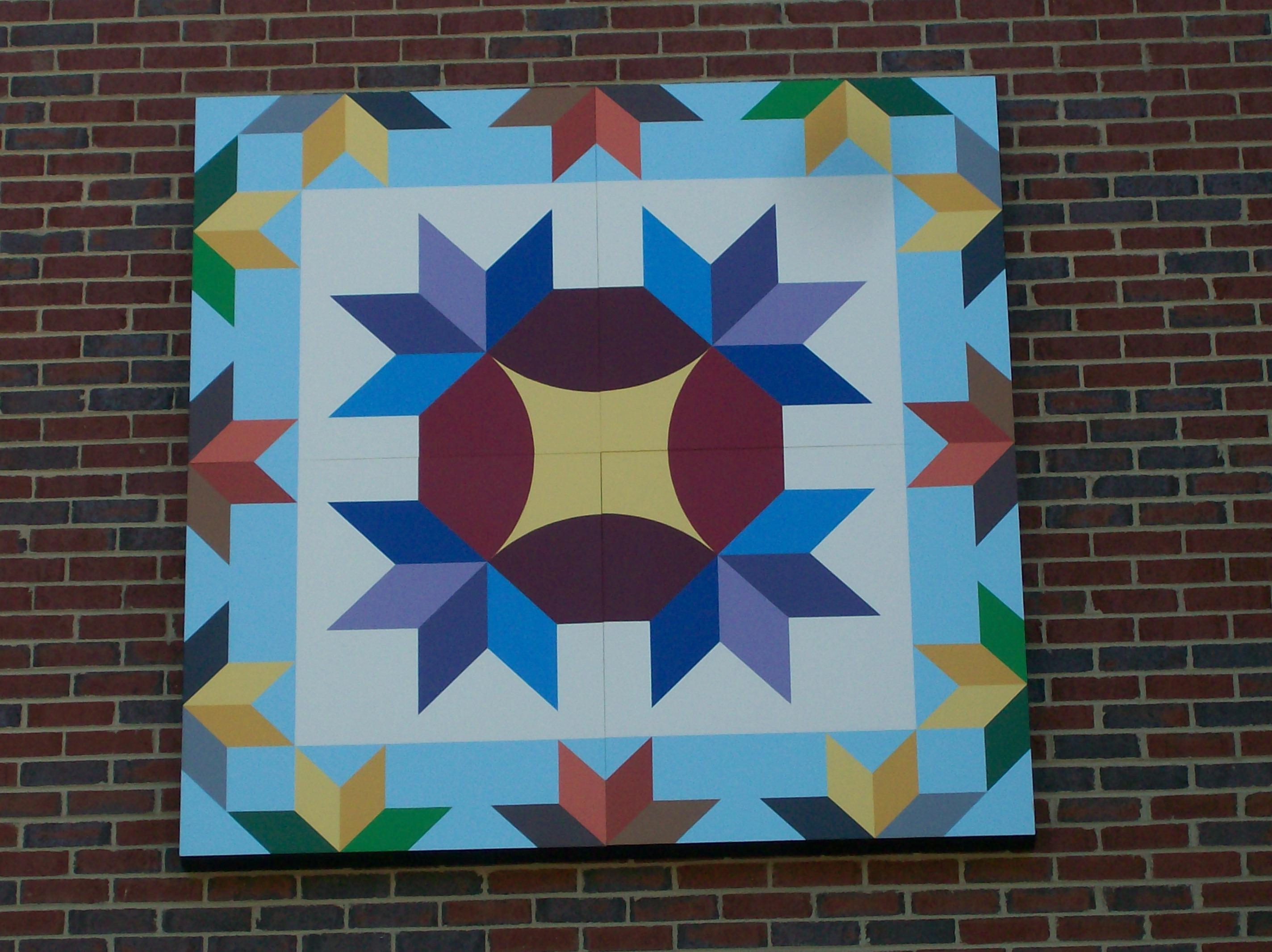 Quilt Block Installed On Marion Elementary School Hands