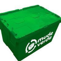 Mude Verde aluga caixas plásticas para mudança