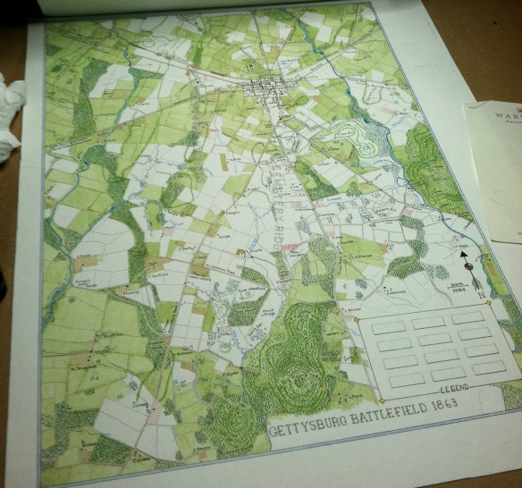 A gettysburg Map in Progress