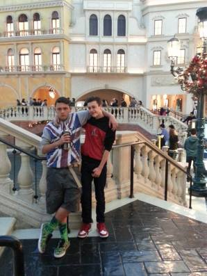 Seth and Noah in Vegas