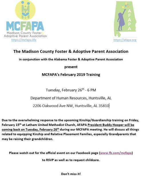 Feb 2019 MCFAPA Training
