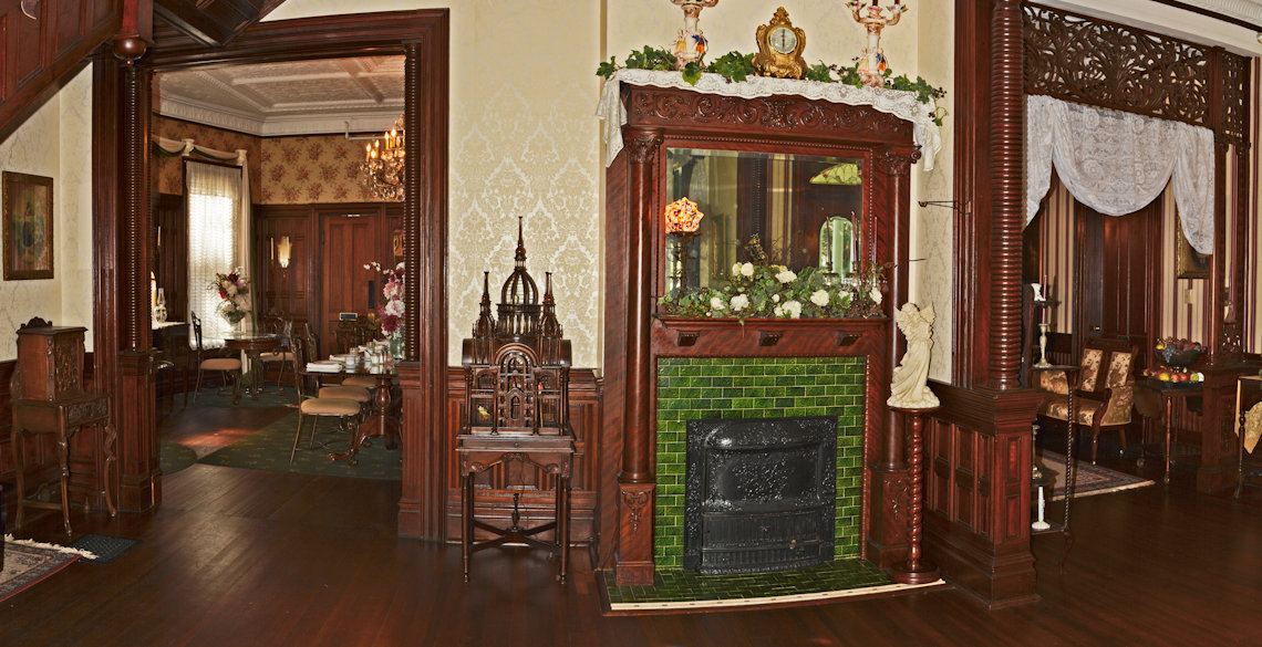 Fireplace at McFarlin House Bed and Breakfast in Quincy, FL